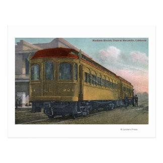 Carte Postale Vue du nord de train électrique