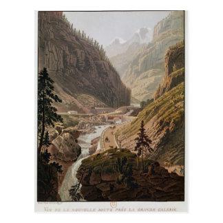 Carte Postale Vue du nouveau passage de Simplon, 1811