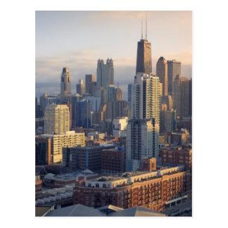 Carte Postale Vue du paysage urbain avec la lumière fantastique