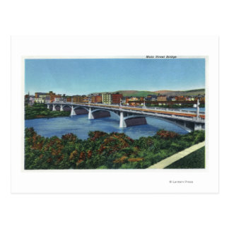Carte Postale Vue du pont en rue principale