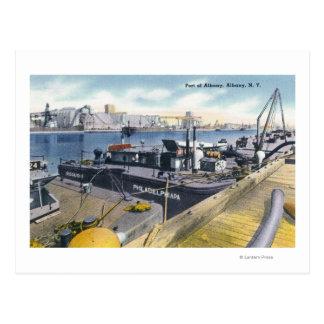 Carte Postale Vue du port d'Albany, solides solubles Iroquois