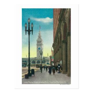 Carte Postale Vue du St du marché inférieur montrant la tour de