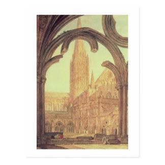 Carte Postale Vue du sud de cathédrale de Salisbury du Cloiste