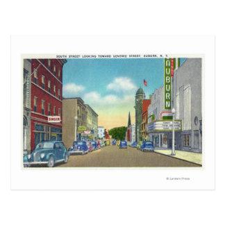 Carte Postale Vue du sud de rue de rue de Genesee