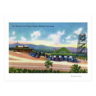 Carte Postale Vue du tipi et du sommet occidental