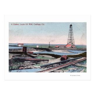 Carte Postale Vue d'un puits de pétrole au puits de pétrole de