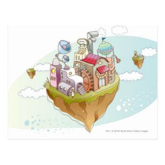 Carte Postale Vue d'une illustration abstraite colorée