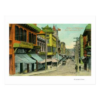 Carte Postale Vue d'une rue de Chinatown