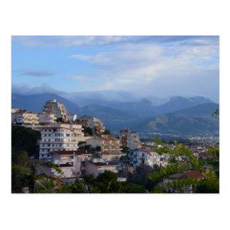 Carte Postale Vue d'une ville calabraise de colline
