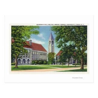 Carte Postale Vue extérieure de Boardman Hall et la bibliothèque