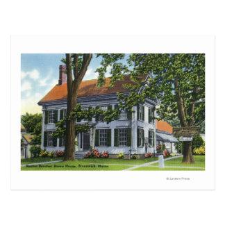 Carte Postale Vue extérieure de la Chambre de Harriet Beecher