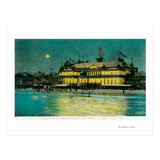 Carte Postale Vue extérieure de nuit du casino de Neptune et