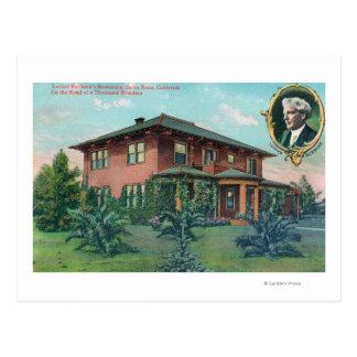 Carte Postale Vue extérieure de résidence de Luther Burbank