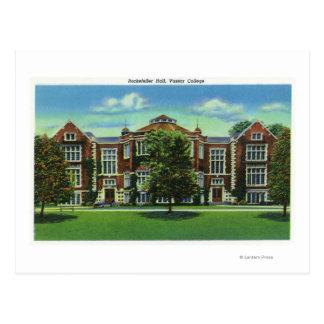 Carte Postale Vue extérieure de Rockefeller Hall, Vassar