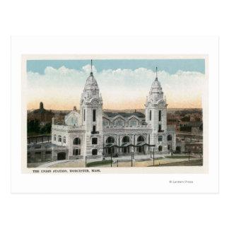 Carte Postale Vue extérieure de station des syndicats