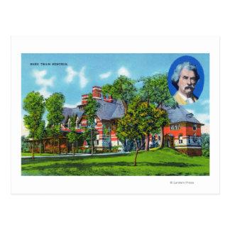 Carte Postale Vue extérieure du mémorial de Mark Twain