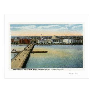 Carte Postale Vue générale de pont de MIT et de Harvard,