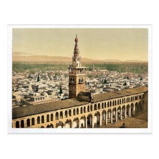 Carte Postale Vue générale et minaret de la jeune mariée, Damas,