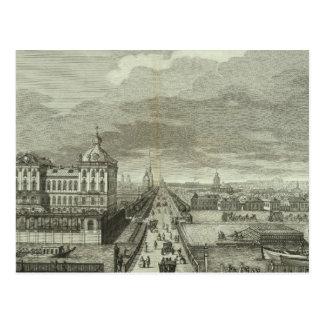 Carte Postale Vue gravée de St Petersbourg