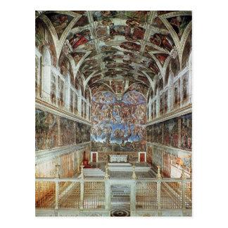 Carte Postale Vue intérieure de la chapelle de Sistine