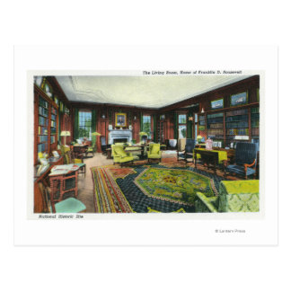 Carte Postale Vue intérieure du salon du FDR