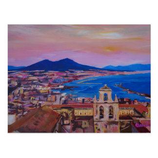 Carte Postale Vue merveilleuse de ville de Naples avec le bâti