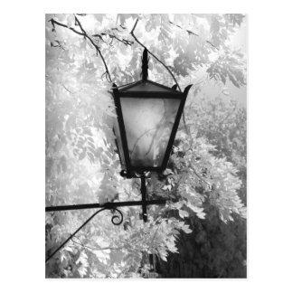 Carte Postale Vue noire et blanche d'appareil d'éclairage