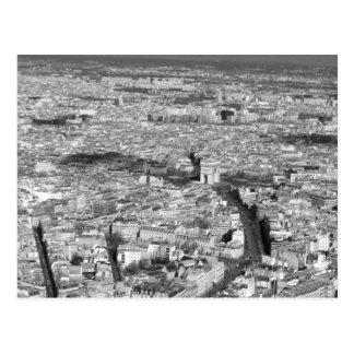 Carte Postale Vue noire et blanche de Paris
