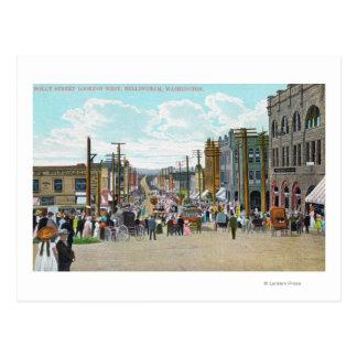 Carte Postale Vue occidentale de rue de houx