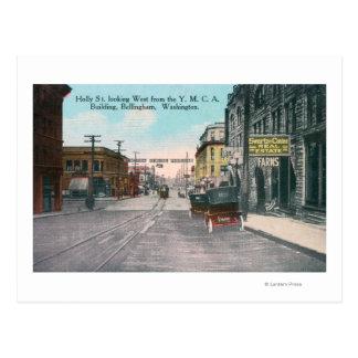 Carte Postale Vue occidentale de rue de houx de bâtiment de YMCA