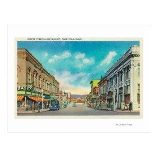 Carte Postale Vue orientale de StreetPocatello central,