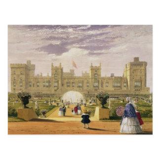 Carte Postale Vue orientale du château et du jardin, Windsor Cas