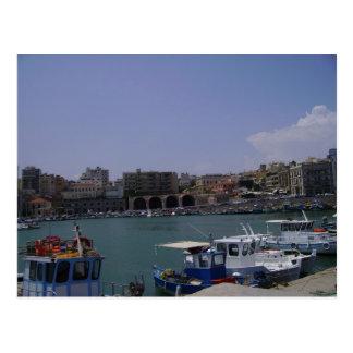 Carte Postale Vue port maritime de Héraklion, Crète