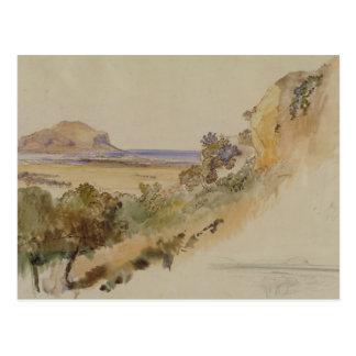 Carte Postale Vue près de Palerme, 1847 (stylo et encre avec la
