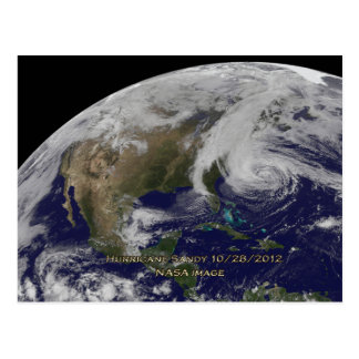 Carte Postale Vue satellite d'ouragan Sandy
