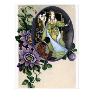 Carte Postale Vue vintage de fleur de passion pour toute photo