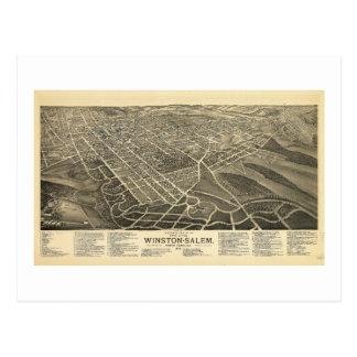 Carte Postale Vue Winston-Salem la Caroline du Nord 1891 de