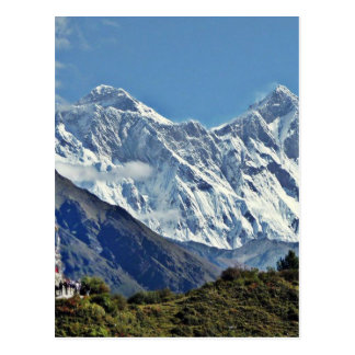 Carte Postale Vues du Népal sur le chemin au MONT EVEREST