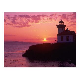 Carte Postale WA, île de San Juan, four à chaux Lighthouse,