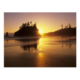 Carte Postale WA, NP olympique, deuxième plage au coucher du