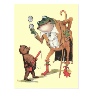 Carte Postale Waddle Captures corporel l'homme-grenouille