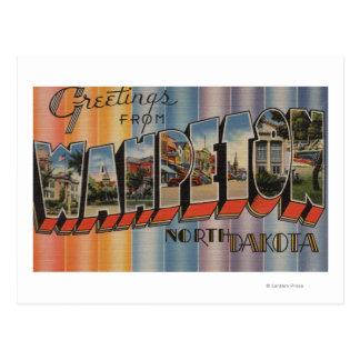 Carte Postale Wahpeton, le Dakota du Nord - grandes scènes de