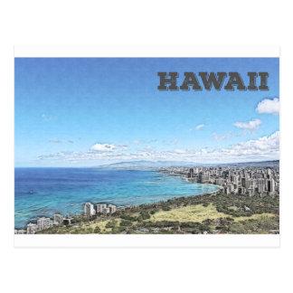 Carte Postale Waikiki, Hawaï