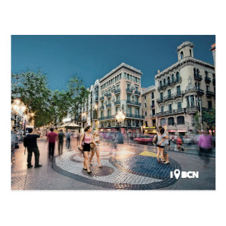 Carte Postale Walk and kiss at le Ravin, Barcelone, Spain