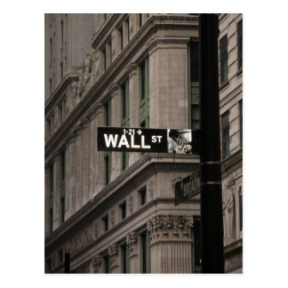 Carte Postale Wall Street New York