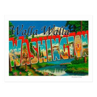 Carte Postale Walla Walla, Washington - grandes scènes de lettre