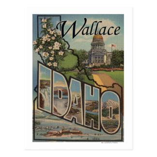 Carte Postale Wallace, Idaho - grandes scènes de lettre
