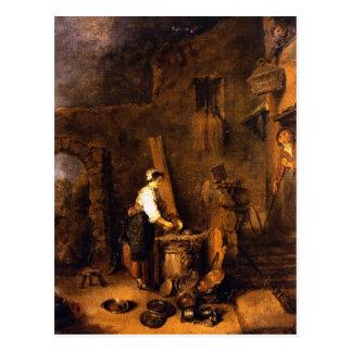 Carte Postale Watteau, art de Jean-Antoine