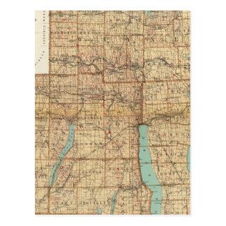 Carte Postale Wayne, Ontario, Yates, comtés de Sénèque