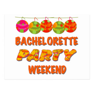 Carte Postale Week-end tropical de partie de Bachelorette